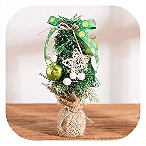 Memoirs- Artificial Mini Christmas Tree Many Style Christmas Day Decorations Home Desktop Decorative Wedding Decor,D 16
