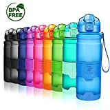 Premium Sports Water Bottle 32 oz/1 liter, 24 oz, 16 oz, 14 oz, BPA Free Tritan for Kids, Reusable & Leak proof & Measured, Plastic Drink Bottle, for Bike, Running, Camping, Gym, Fitness, Cycling