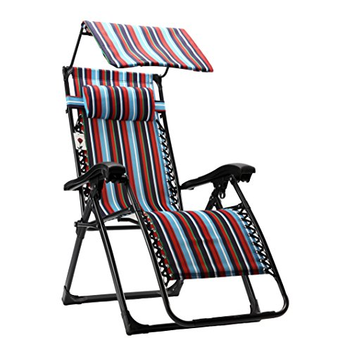 FLAMROSE Zero Gravity Recliner with Adjustable Headrest Support Portable Patio Lounge Chairs with Canopy for Outdoor Beach Deck Backyard Sunny Pool ...  sc 1 st  Lawn and Garden Equipment & FLAMROSE Zero Gravity Recliner with Adjustable Headrest Support ... islam-shia.org