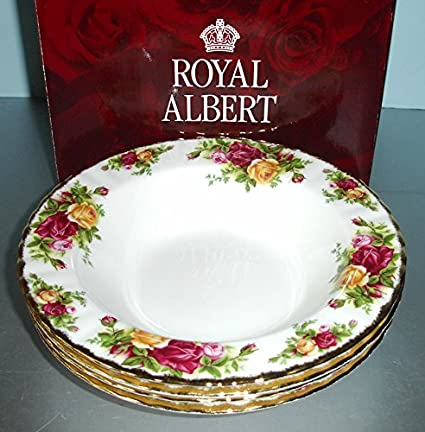 Amazon.com | Royal Albert Old Country Roses 4 Rim Soup Bowls New in ...