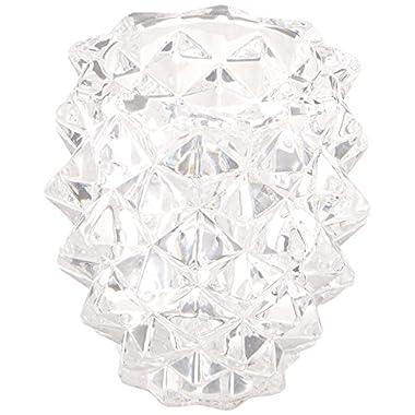 Fifth Avenue Crystal Pinecone Glass Pillar Holder, Set of 3
