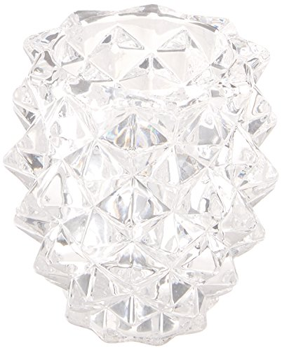 - Fifth Avenue Crystal Pinecone Glass Pillar Holder, Set of 3