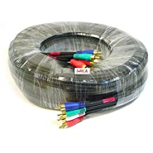 50ft 22AWG 5-RCA Component Video/Audio Coaxial Cable (RG-59/U) - Black