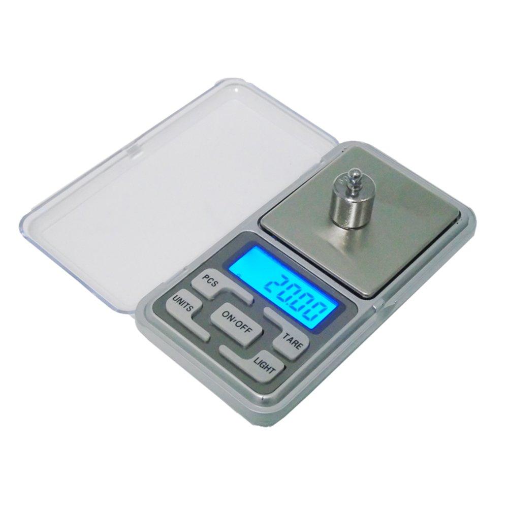 TOOGOO 200g x 0.01g Mini bascula Digital Bascula de Joya Herramientas de Peso de Bolsillo de medicion de de Alta Precision Pantalla LCD
