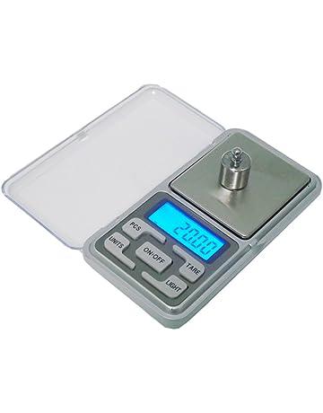CUHAWUDBA 200g x 0.01g Mini bascula Digital Bascula de Joya Herramientas de Peso de Bolsillo