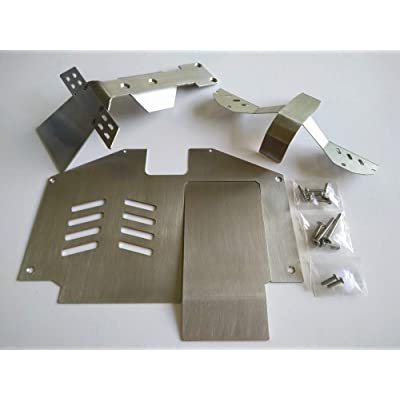 Stainless Steel Front Middle Rear Skid Plate Chassis Armor (4pcs) for Traxxasss UDR Unlimited Desert Racer: Toys & Games
