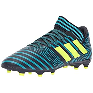adidas Originals Boys' Nemeziz 17.3 FG J, Legend Ink/Solar Yellow/Energy Blue, 2 Medium US Little Kid