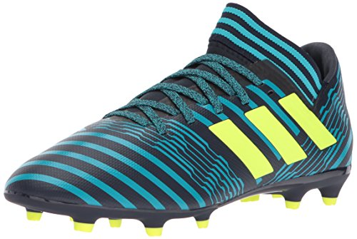 adidas Originals Boys' Nemeziz 17.3 FG J, Legend Ink/Solar Yellow/Energy Blue, 12 Medium US Little Kid