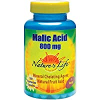 Nature's Life Malic Acid -- 800 mg - 100 Vegetarian Capsules