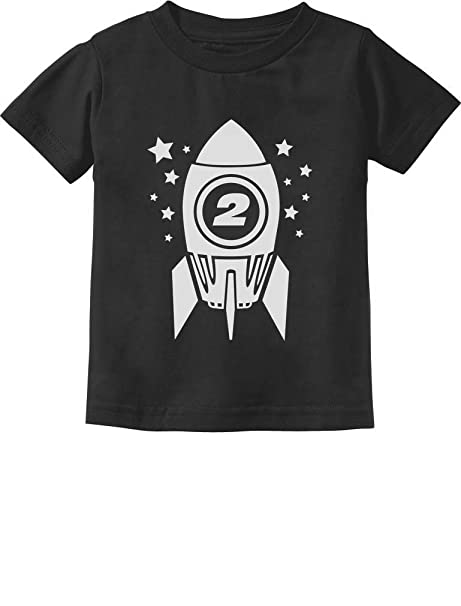 0a2cdb76a Gift for Two Year Old - 2nd Birthday Space Rocket Toddler/Infant Kids T-