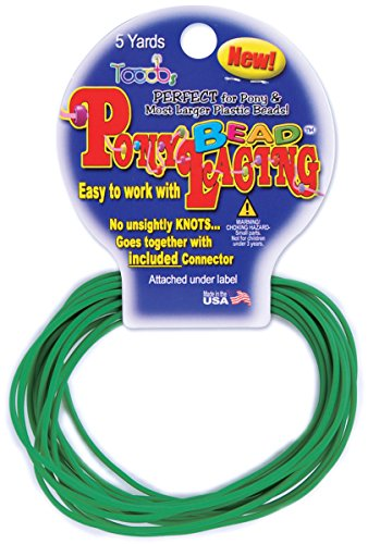 Pepperell Pony Bead Lacing, 2mm, Green ()