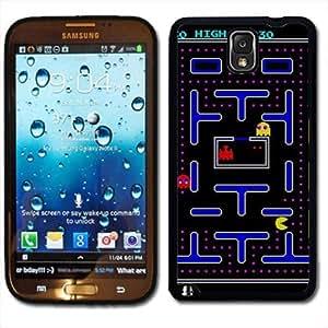 Samsung Galaxy Note 3 Black Rubber Silicone Case - Old School Retro Pac Man Video Game 80's Atari