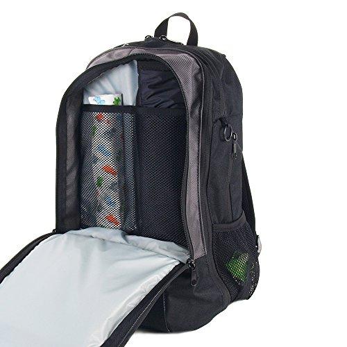 Amazon.com   DadGear Backpack Diaper Bag - Orange Retro Stripe   Diaper  Tote Bags   Baby 4d4374cf7445