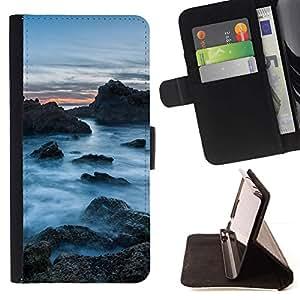 Momo Phone Case / Flip Funda de Cuero Case Cover - Rocas Nubladas;;;;;;;; - Samsung Galaxy S4 IV I9500