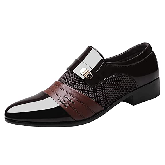 Zzzz TU001 - Zapatos de Trabajo de Piel barnizada con cordón, para ...