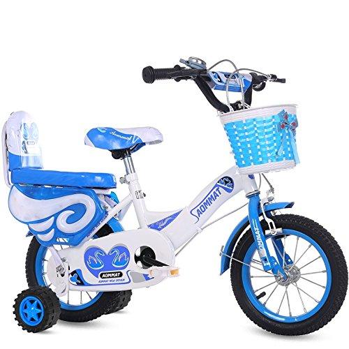 【驚きの値段】 CHS@ 子供用自転車3-6-9歳の男の子と女の子12/14/16/18インチベビーキャリッジキッズバイク 子ども用自転車 (色 : 子ども用自転車 B07PZJVBY3 青, さいず サイズ さいず : 14