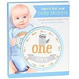 "C.R. Gibson ` Blue Animal Baby Boy Milestone Month Stickers, 4.5"" D, 20pc"