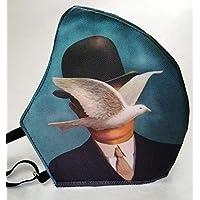 MEXI-K9 Cubrebocas lavable 4 capas Magritte