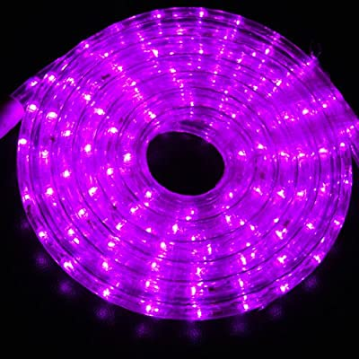 Outdoor and Indoor 30 Feet Purple(Pink) LED Rope Light