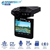 """SportsBot® SS501 120 Degree Wide Angle Car Dash Cam Camera Video DVR Recorder Black Box Camcorder w/ 2.5"""" LCD, Motion Detector, Built-in Mic, 6 InfraRed Night Vision, Multi-Language, Loop Recording"""