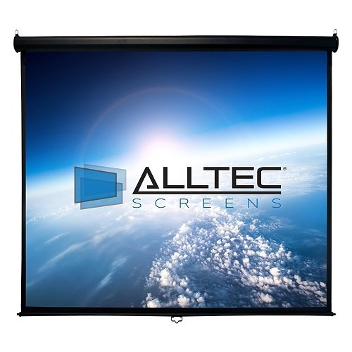 """Alltec Screens 150"""" Diag.  Manual Projector Screen, HDTV For"""