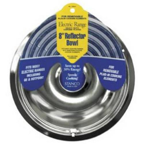 Stanco Range Reflector Bowl No. 700-8 Fits Most Electric Ranges With Plug In Elements Chromed Steel,