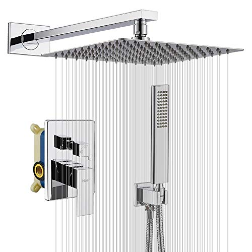 IRIBER Rain Shower System with 10 Inch High Pressure Ultra