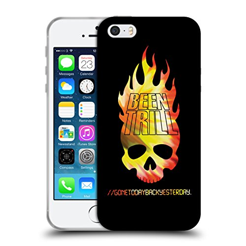 Official Been Trill Flaming Skull Colourful Prints Soft Gel Case for Apple iPhone 5 / 5s / SE