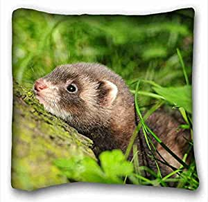 """Generic Personalized ( Animals ferret grasss lurk muzzle ) Zippered Body Pillow Case Cover Size 16""""X16"""" suitable for X-Long Twin-bed PC-Orange-1265"""