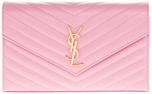 Saint Laurent Women's Monogram Chain Textured Matelasse Shoulder Bag Rose