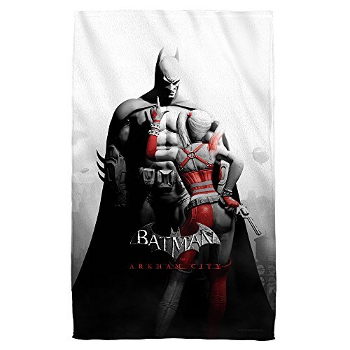 BATMAN ARKHAM CITY Harley Quinn Stand Off 36 X 58 Beach Towel