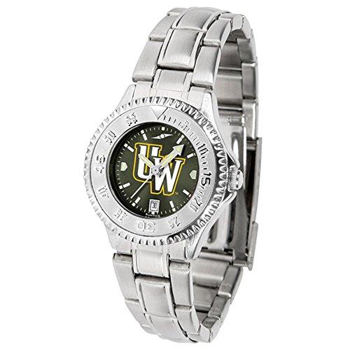 Wyoming Cowboys Ladies Watch - Linkswalker Ladies Wyoming Cowboys Ladies' Competitor Steel Anochrome Watch