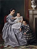 Oil Painting 'Manzano Y Mejorada Victor Retrato De La Familia Del Pintor 1864 65', 10 x 13 inch / 25 x 34 cm , on High Definition HD canvas prints is for Gifts And Bed Room, Foyer And Gym Decoration