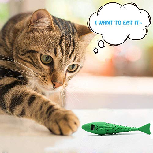 Adusa Interactive Cat Toys Catnip Toys Cat Toothbrush Chew Toys,100% Natural Rubber Bite Resistance Catnip Cat Treat Toys,Crayfish Shape Cats Teeth Cleaning Dental Care toys 5