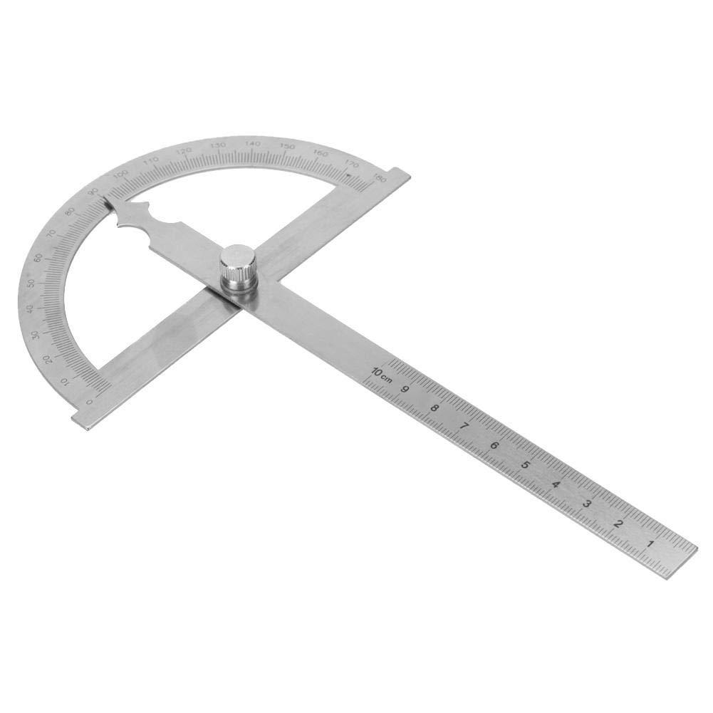 Transportador de /ángulo de 0-180 grados Transportador giratorio de acero inoxidable Regla de buscador de /ángulo de 0-15 cm 120 * 150mm