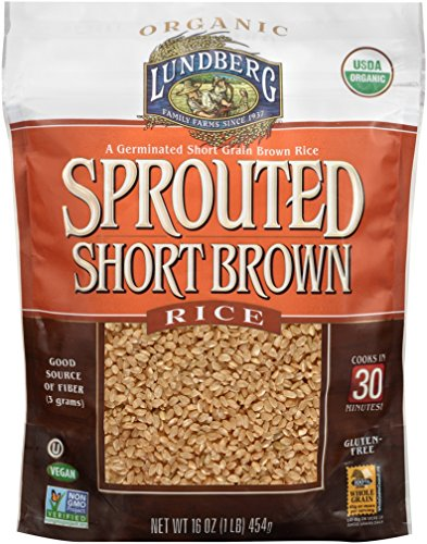 Lundberg Family Farms Sprouted Short Brown Rice, 1 Pound ()