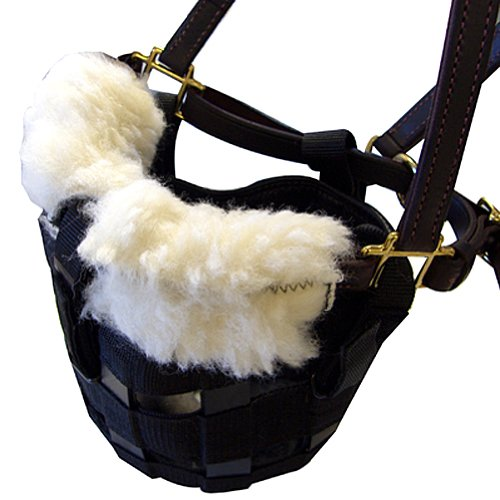 NOSEBAND DELUXE GRAZING MUZZLE FLEECE NATURAL