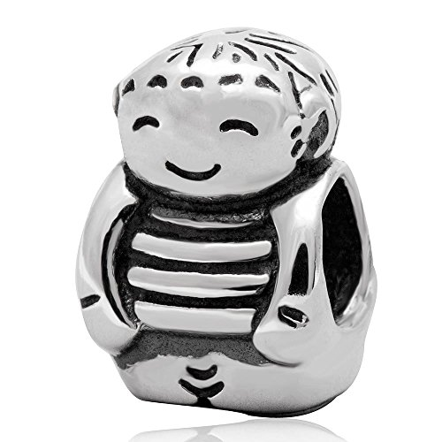 Boy Charm Bead 925 Sterling Silver Child Beads Charm Fit DIY Braclet - 3 Sons Pandora Charms