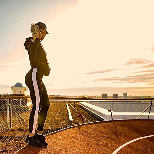 Yoga Di Kobay Allenamento Pantaloni Leggings Sport Vita Alta Correnti Fitness Donne Nero A q55rRtU