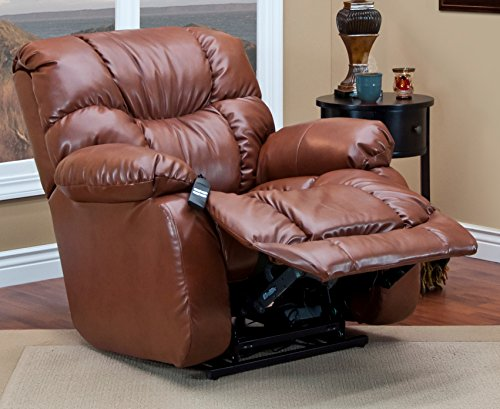 can Bonded Leather Sleeper/Reclining Lift Chair, III Canyon ()