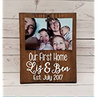 Our first Home Picture frame, photo with clip gift! realtor real estate agent closing gift, housewarming, engagement gift, first house 7x9