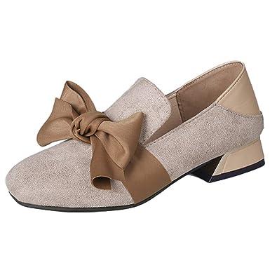 Eté Plate Femme Chaussures Suede Modaworld Talons Épais Bowknot edxWrCBo