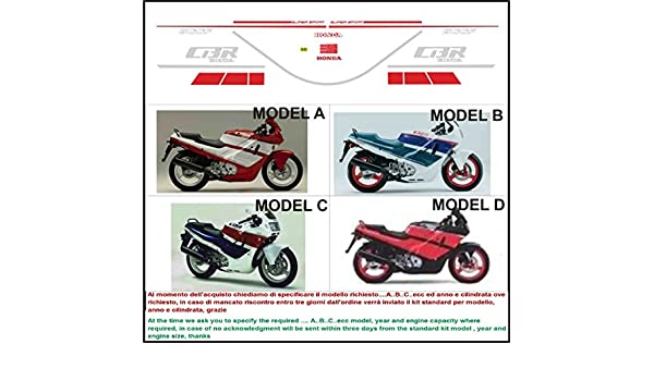GRAPHICSMOTO h422 Kit adesivi decal stickers HONDA CBR 600 F 1989 (ability to customize the colors): Amazon.es: Coche y moto