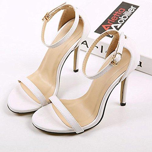 los angeles 4a3c9 b83f0 Zapatos para mujer : Zapatos de hombre   Vestido, Botas, Casual, Correr y  más   Yesterdayes.com RUGAI-UE Sandalias de tacón alto white