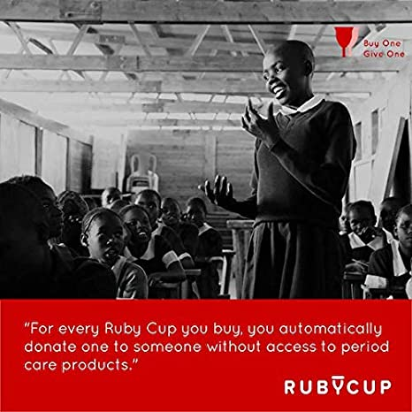 Set of 2 Perfect for Beginners Ruby Cup -Reusable Menstrual Cup Small + Medium Light//Heavy Flow, Low//High Cervix - Includes 2 Cup Donations Purple