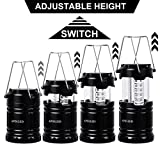APOLLED Camping Lantern, 30-LED Collapsible Lantern with 6 AA Batteries, Survival Kit for Outdoor Camping, Emergency, Hurricane, Power Outage