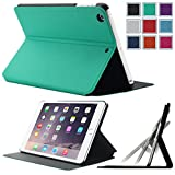 iPad Mini Case,iPad Mini 2/3 Case,HOTCOOL New Slim Pu Leather [Multi-Angle View] With Built-In Cover Case For iPad Mini/iPad Mini Retina/iPad Mini 3 Tabelt(with Smart Cover Auto Sleep/Wake), Mint Green