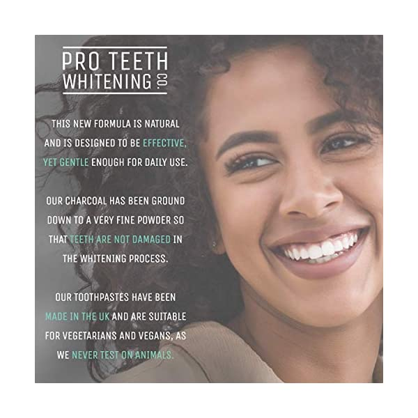 Pasta de dientes blanqueadora de carbón activado - Sabor a menta 100% derivado de forma natural - Refresca el aliento… 10