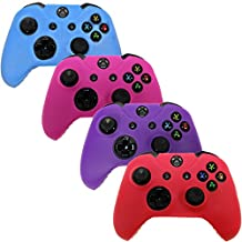 HDE Xbox One Controller Skin 4 Pack Combo Silicone Rubber Protective Grip Case Cover for Microsoft Xbox 1 Wireless Gamepad (Blue, Red, Purple, Pink)