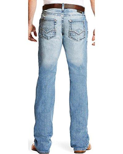 Ariat Men's M5 Blake Slim Low Rise Jeans Boot Cut Indigo 32W x 36L - Ariat Low Rise Jeans